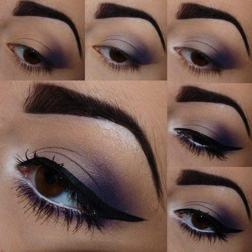 новогодний макияж для карих глаз, фото 1