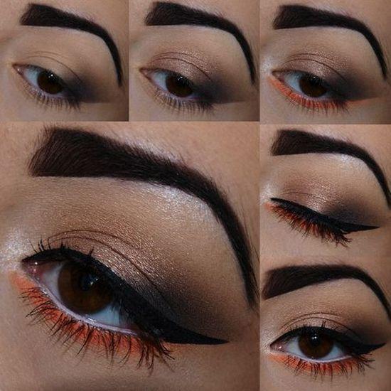 новогодний макияж для карих глаз, фото 2