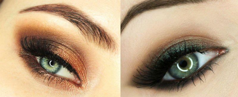 новогодний макияж для зеленых глаз, фото