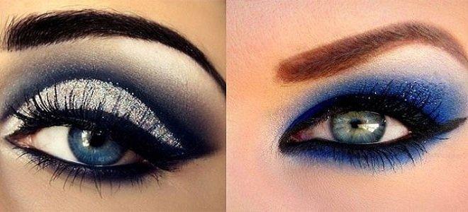 макияж для голубых глаз на Новый год, фото 1