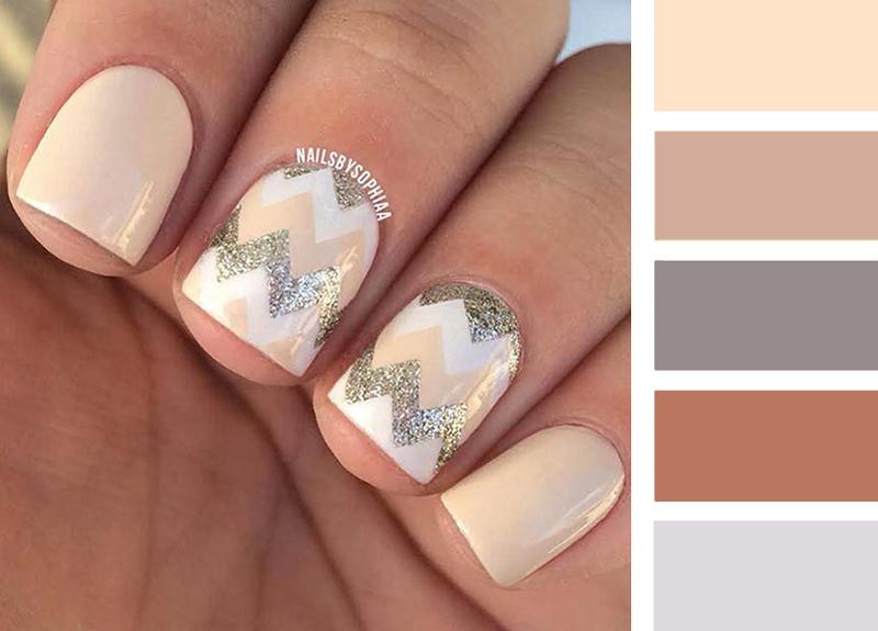 маникюр на короткие ногти в естественно светлых и бежевых тонах, фото 1