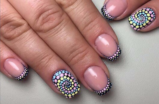 модный маникюр 2017 на короткие ногти, фото 4
