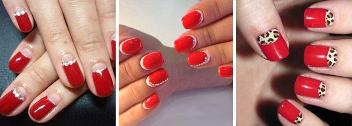 лунный маникюр на короткие ногти, фото 1