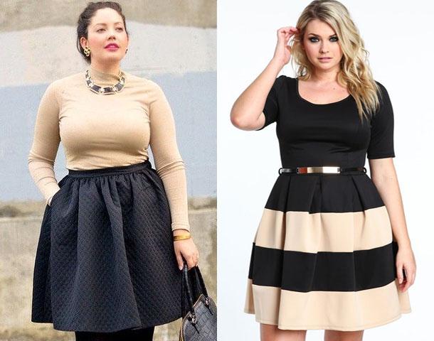 модные юбки для полных женщин осень 2016 зима 2017, фото 1