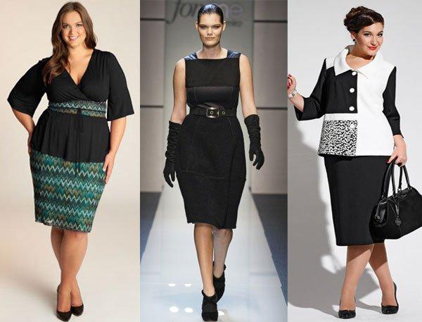 модные юбки для полных женщин осень 2016 зима 2017, фото 2