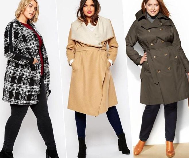 модная верхняя одежда для полных женщин осень 2016 зима 2017, фото 2