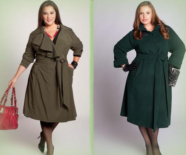 модная верхняя одежда для полных женщин осень 2016 зима 2017, фото 3