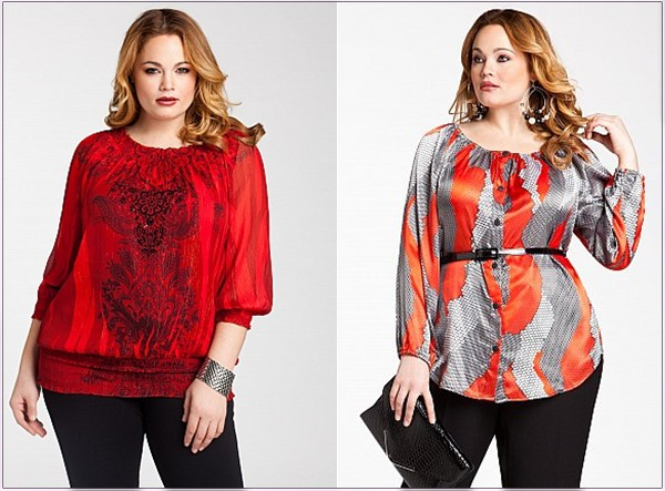 модные блузки для полных женщин осень 2016 зима 2017, фото 2