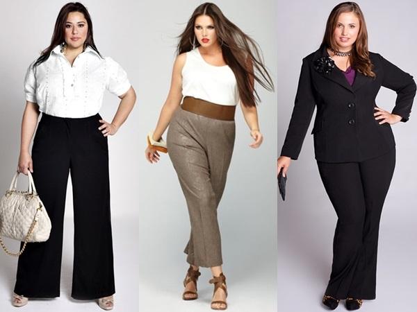 модные брюки и джинсы для полных женщин осень 2016 зима 2017, фото 1