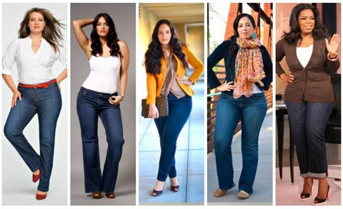 модные брюки и джинсы для полных женщин осень 2016 зима 2017, фото 2