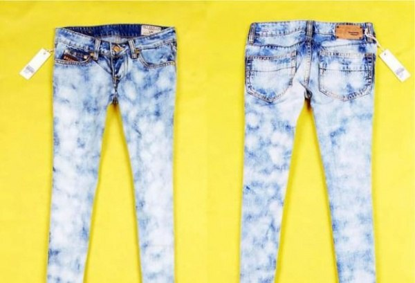 разводы на джинсах
