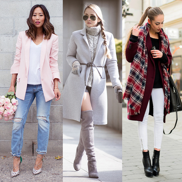 модные луки с пальто 1