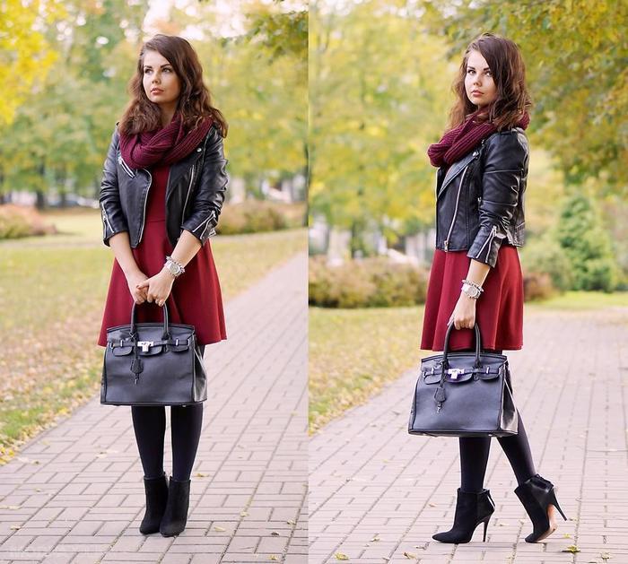 модные луки с платьями 1