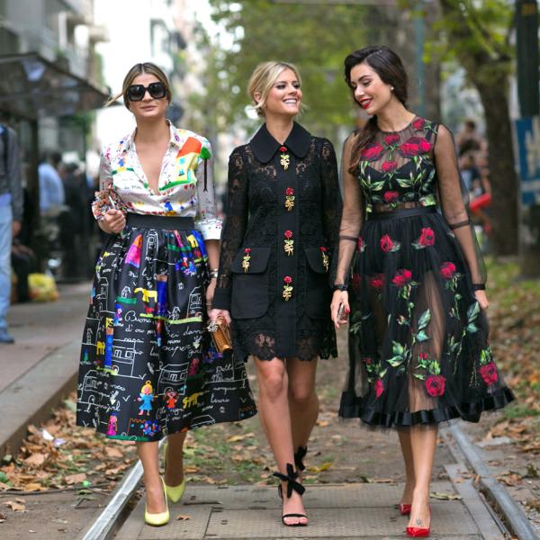 модные луки с платьями 3
