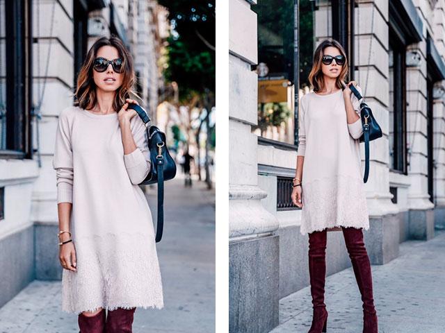 модные луки с платьями 4