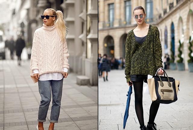 вязаные свитера и джемперы осень 2016 зима 2017, фото 2