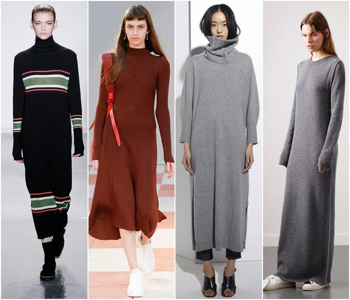 модные офисные (деловые) платья осень-зима 2016-2017, с чем носить 1