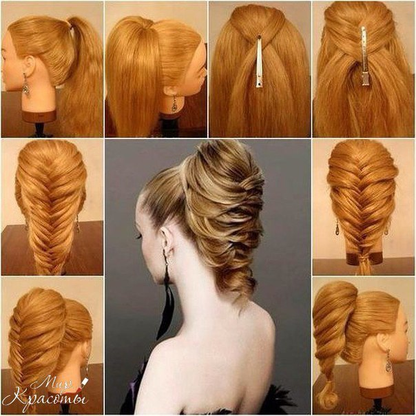 как сделать прическу на длинные волосы на Новый год 3