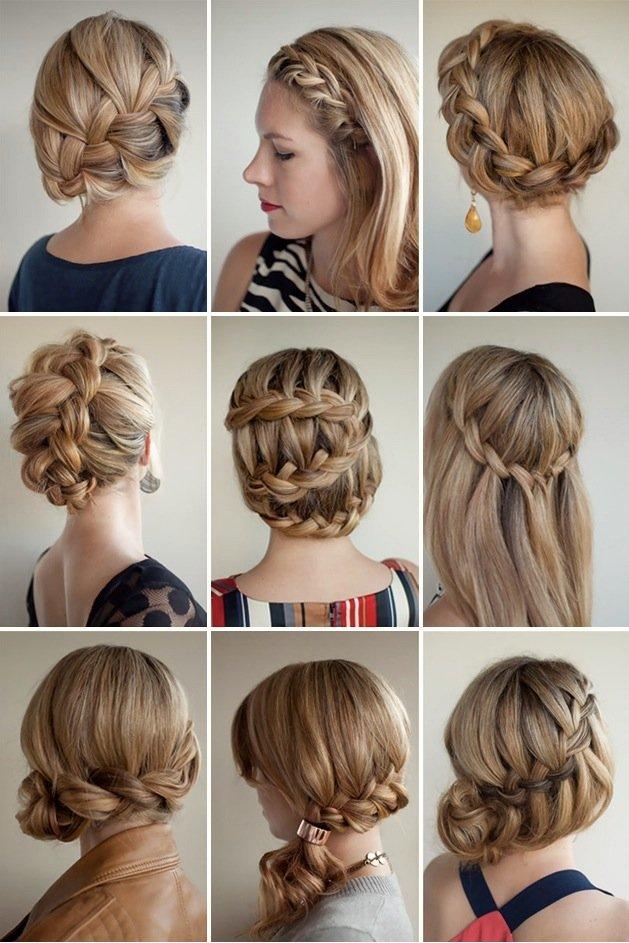 Причёски на средние волосы косички