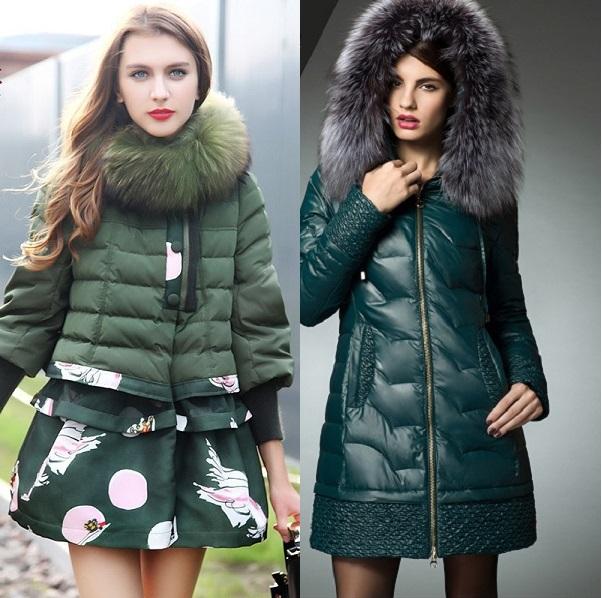 фото модных женских пуховиков на осень 2016 и зиму 2017 4
