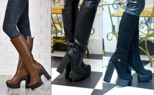 модные сапоги осень-зима 2016-2017, фото 2