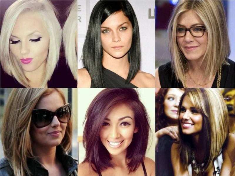 Ассиметричные стрижки 2017 на средние волосы