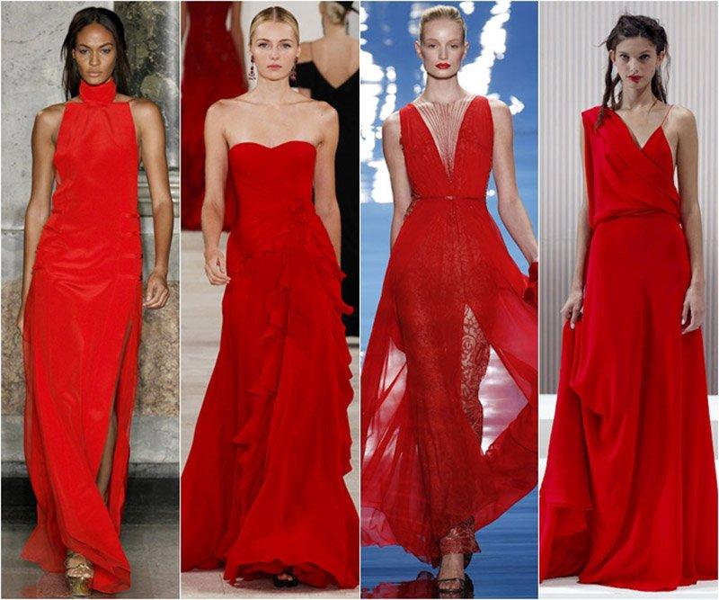 красные платья фото 1