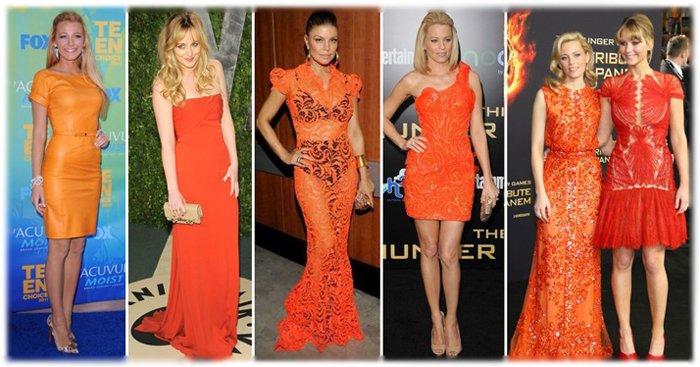 оранжевые платья фото