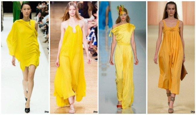 желтые платья фото