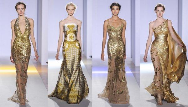 золотые платья фото 1