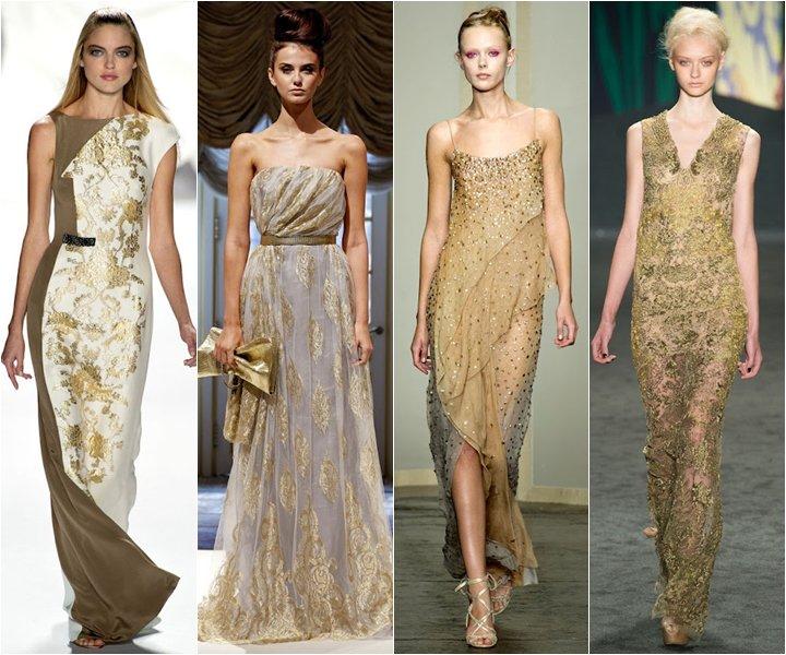 золотые платья фото 2