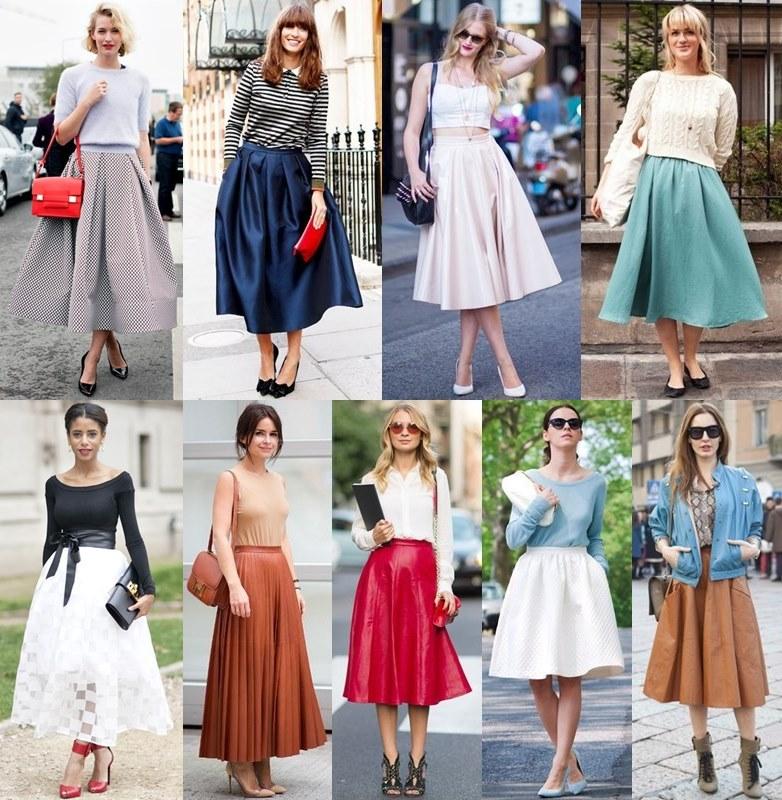 луки с юбками