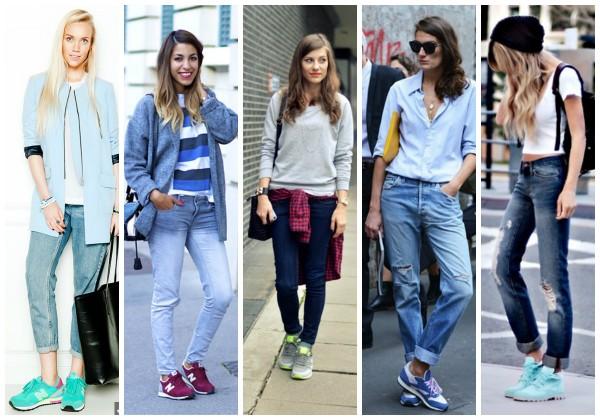 луки с джинсами