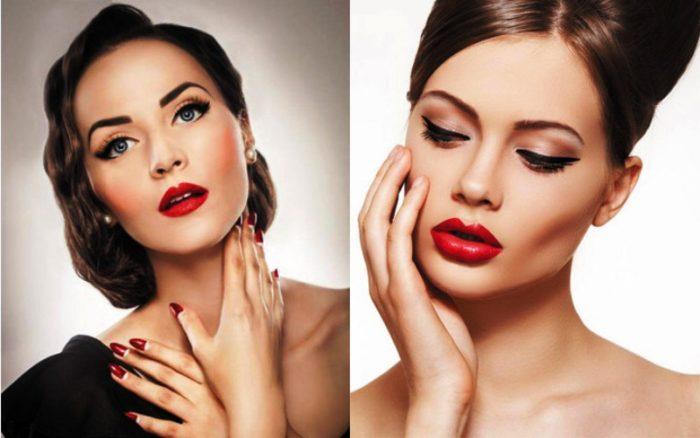 Foto modnogo makijazha na Novyj god