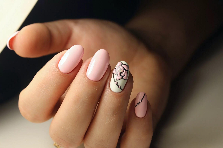 100 новинок дизайна: Модный маникюр на короткие ногти 2018 с фото