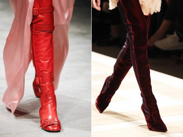 модные сапоги осень-зима 2017-2018