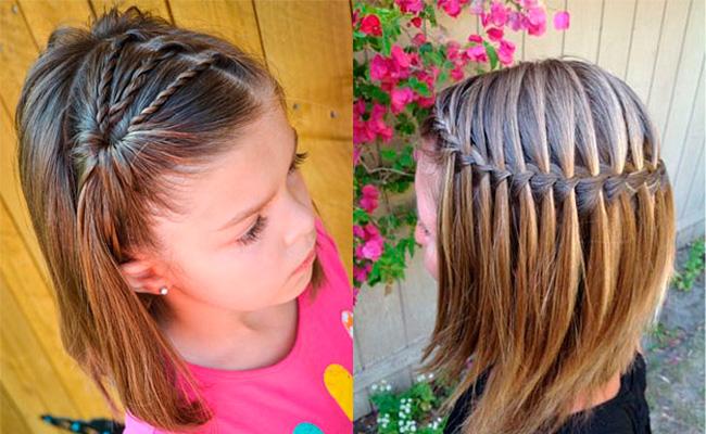 Прически на короткие волосы для школы